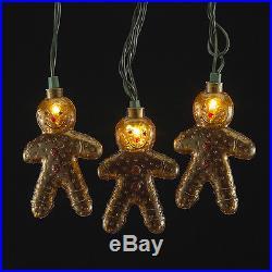 Gingerbread Man Christmas Light Set with 10 Lights Decoration UL4272 New Adler