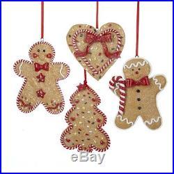 Gingerbread Men Heart Christmas Tree Ornaments Winter Seasonal Decoration Home
