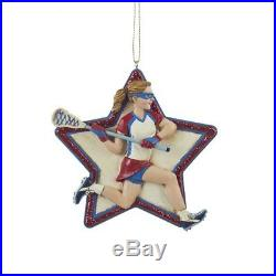 Girl Lacrosse Star Ornament