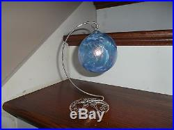 Glass Blown Blue Ball Ornament