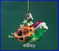 Glass Sea Turtle Christmas Ornament 16529