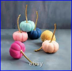 Glitterville Halloween Anthropologie Rainbow Pumpkin Display Set 22 12