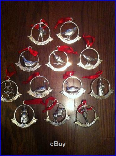 Godinger 12 Days Of Christmas Metal Ornaments Christmas