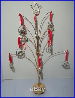 Godinger Revolving Musical 12 Days of Christmas Ornament Tree
