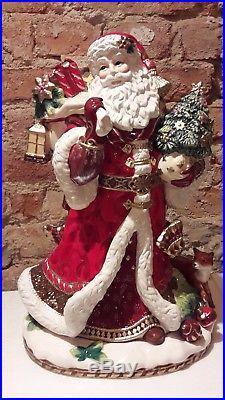 Goebel Engel Fitz and Floyd Santa mit Geschenken 48 cm Väterchen Frost