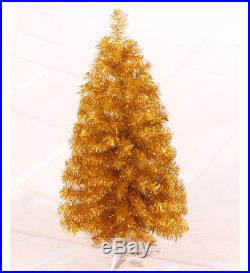 Gold Artificial Christmas Tree Winter Holiday Seasonal Decoration 2 3 4 5 6 7 ft