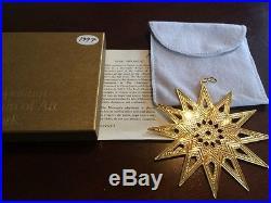 Gold MMA 1997 Star Sterling Silver Christmas Ornament Metropolitan Museum Art