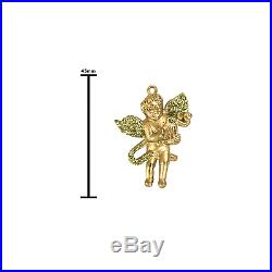 Golden Glitter Winged Cherub Christmas Tree Decorations 16 Pack