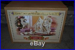 Grandeur Noel Collectors Edition 2003 White Porcelain Gold Firing Santa NM COND