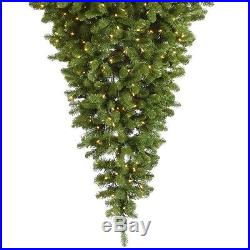 Green Christmas Tree Upside Down 6 FT Artificial Stand Decorations Gift Shop
