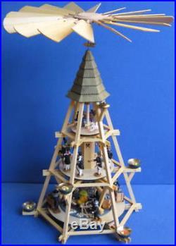 Große Göpelpyramide 72cm 3-Stock Werner Seiffen Göpel-Pyramide Erzgebirge Göbel
