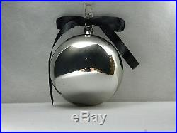Gucci Set Of 3 Silver Christmas Holiday Ornament Ball Palle Sferice Vetro Ver