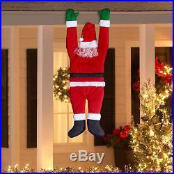 HANGING SANTA Outdoor Christmas Decoration Holiday Xmas Fun Balcony Decor Yard