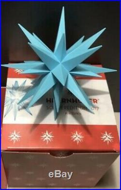 HERRNHUTER Weihnachtsstern Original A1e LED Türkis Sonderedition 2017 mit Rechng