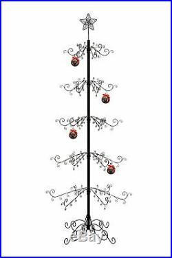 HOHIYA Metal Ornament Display Tree Stand Hook Hanger Christmas Xmas Halloween