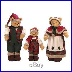 HOLIDAY DECORATIONS BEAR FAMILY Christmas Holiday Decor XMas Holidays Set of 3