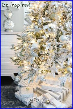 HOLIDAY STUFF 5ft Snowy Forest Spruce The Pre-lit PE Flocked Slim Christmas Tree