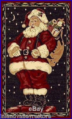 HOLIDAY XMAS CHRISTMAS SANTA CLAUS CLAUSE RUG 4′ X 5