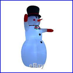 HOMCOM Inflatable Christmas Santa Claus 7.9' LED Lighted Yard Holiday Decor Xmas