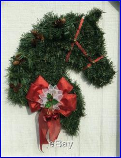 HORSE HEAD HOLIDAY/CHRISTMAS WREATH
