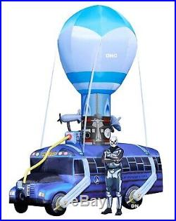 HUGE 17.5 FT Creepy Halloween Battle Bus Fortnite Airblown Inflatable Haunted