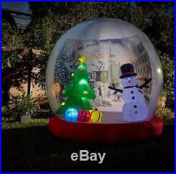 HUGE! Winter Lane 10′FT X 10 FT Inflatable Snow Globe CHRISTMAS DECOR NEW