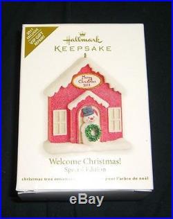 Hallmark Keepsake WELCOME CHRISTMAS REPAINT Ornament RARE COLORWAY VIP GIFT 2011