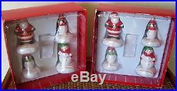 Hallmark Set/8 Christmas Winter Snowman Santa Placecard Place Card Holders NEW