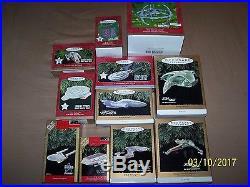 Hallmark Star Trek Ornaments 1991-2001 Mint in Box 11 Pieces New