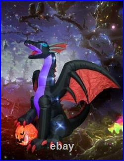 Halloween 8Ft Huge Dragon Decoration Inflatable are Suitable for Indoor