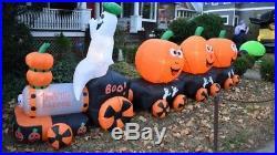 Halloween Air Blown Inflatable BooExpress Ghost Pumpkin Train
