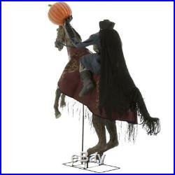 Halloween Headless Horseman Animated Sounds Lighted Jack O Lantern 91 in