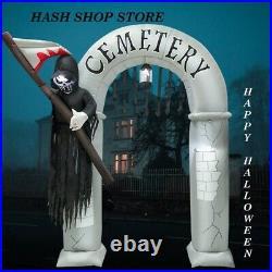 Halloween prop animated haunted 240CM Outdoor Decoration Arch Door Scary Ghost