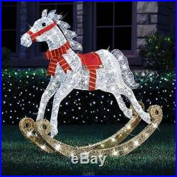 Hammacher 4′ Twinkling Rocking Horse Outdoor Christmas twinkle Lights Decoratio