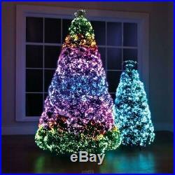 Hammacher Northern Lights Christmas Tree LED Fiber Optic Tips 23 Pattern 9 Ft