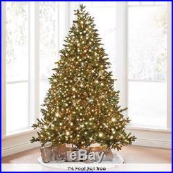 Hammacher WORLDS BEST PRELIT NOBLE FIR CHRISTMAS TREE SLIM 6.5′ CLEAR LED LIGHTS