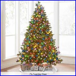 Hammacher World Best Prelit LED Noble Fir (9.5′ Full) MULTI Light Christmas Tree