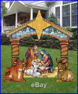 Handmade Large Christmas Nativity Set Scene Lawn Yard Art Outdoor Holiday Decor
