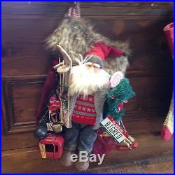 Handmade One-of-a-Kind BIG RED Santa Stocking MADE IN COLORADO USA
