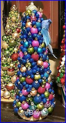 Handmade Unique 18 Christmas Tree Centerpiece Blue Bird Holiday Decor