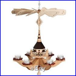 Hängepyramide Seiffener Kirche, für 6 Teelichter 47x38x38 cm NEU Pyramide