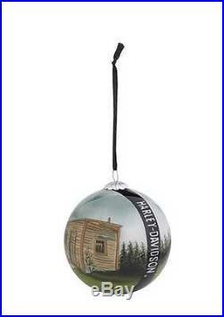 "Harley-Davidson Holiday 2014 Reverse Painted Ball Ornament, 3-1/8"". 96843-15V"