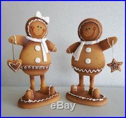 Heaven Sends. Pair of Gingerbread Man Figures Christmas decoration