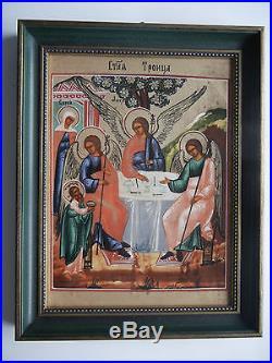 Heinrich Porzellan Ikone Nr. 9 Heilige Dreifaltigkeit mit OVP + Zertifikat