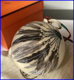 Hermes Brazil Feather Ornament RARE