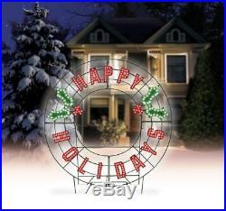 Holiday Decor Display Outdoor Christmas Yard Decoration 257 color LED Lights NEW