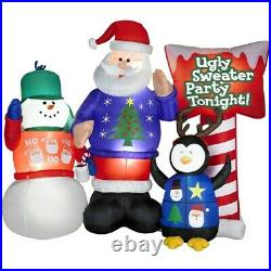 Holiday Living 5-1/2-ft Inflatable Fabric Ugly Sweater Party Lawn Inflatable