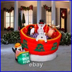 Holiday Living 5.24-ft Animated Wheel Of Fun Christmas Inflatable Yard Decor