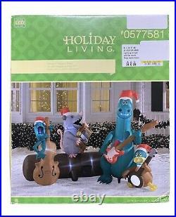 Holiday Living 5.24-ft Lighted Alligator Band Christmas Inflatable