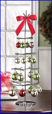 Holiday Ornament Tree Metal Decor 20.25 Tall #10015296